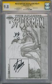 Amazing Spider-man #1 Authentix Variant CGC 9.8 Signature Series Signed Stan Lee Romita Jr Marvel